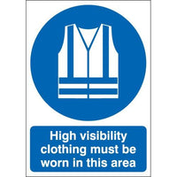 High Visibility Clothing Must Be Worn Warning Signs