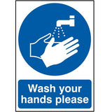 Wash Your Hands Please Highly Visible Signs