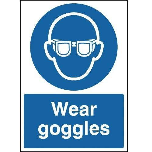 Wear Goggles Warning Signs