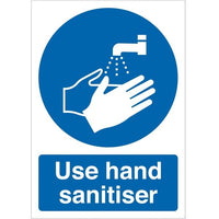 Use Hand Sanitiser Highly Visible Hygiene Signs