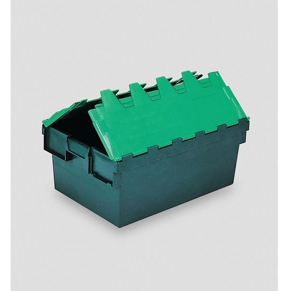Green Attached Lid Stacking & Nesting Containers