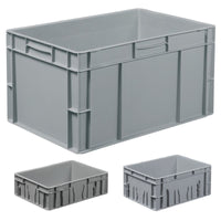 Solid Durable Stackable Plastic Containers with Label Holders