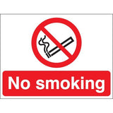 No Smoking Signs (Plastic or Self-Adhesive Vinyl)