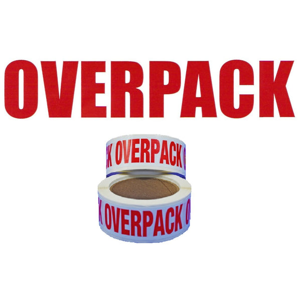 Overpack Handling Label - 150mm x 50mm - Rolls of 250