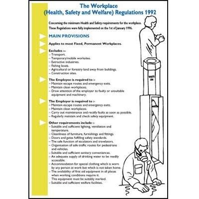 Durable Workplace Health, Safety and Welfare Guide Information Poster and Pocket Guide