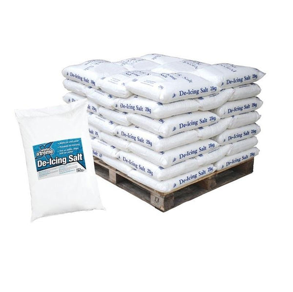 Pallet of De-Icing White Rock Salt - Cost Effective Option