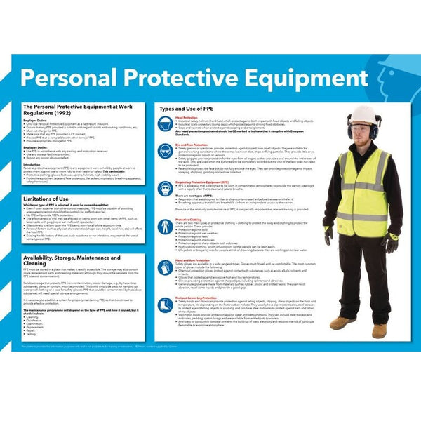 Eye-Catching Graphical Personal Protective Equipment Information Poster