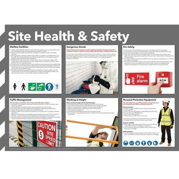 Colour Site Health & Safety Poster