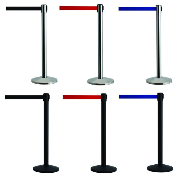 Posts With Retractable Belt Barriers