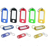 Reusable Split Ring Key Tags (with Hanging Hole)