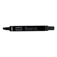 Pentel N60 Permanent Marker Chisel Tip Variable 3.9mm-5.7mm Line Black Ink [Pack 12]