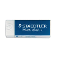 Staedtler Mars Plastic Eraser Premium Quality Self-cleaning 65x23x13mm [Pack of 2 or 20]