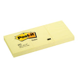 Post-it Canary Yellow Notes Pad of 100 Sheets Various Sizes [Pack 12 or 20]
