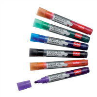 Nobo Marker Liquid Ink Dry-wipe W/bd/Flipchart/OHP Bullet Tip 3mm Line Assorted [Pack of 6 or 12]
