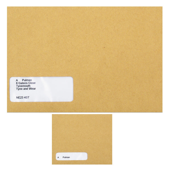 Sage Compatible Wage Envelope Self Seal Window 220x140mm Or 128x107mm Manilla [Pack 1000]