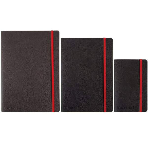 Black By Black n Red Business Journal Soft Cover Ruled and Numbered 144pp B5, A5 Or A6