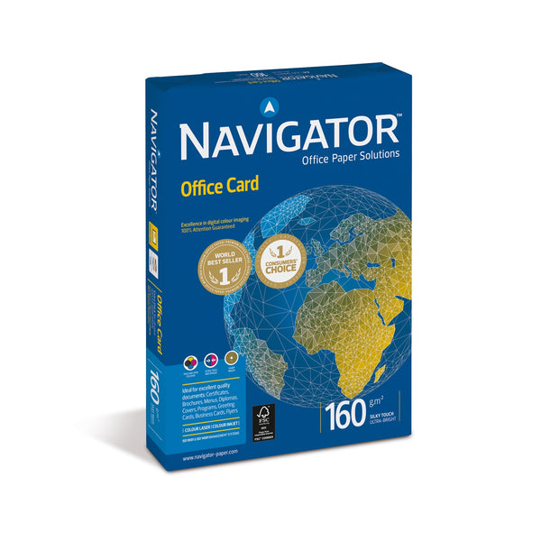 Navigator Office Premium Card FSC High Quality 160gsm A4 Bright White [250 Sheets]