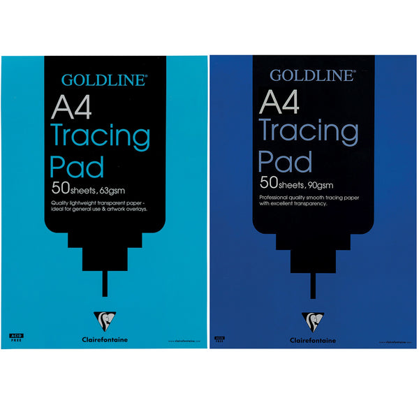 Goldline Professional Or Popular Tracing Pad 63/90/112gsm Acid-free Paper 50 Sheets A3 Or A4 [Pack 5]