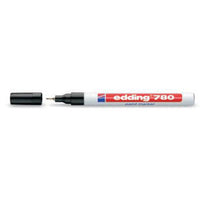 Edding 780 Paint Marker Extra Fine Bullet Tip 0.8mm Line White Ink [Pack 10]