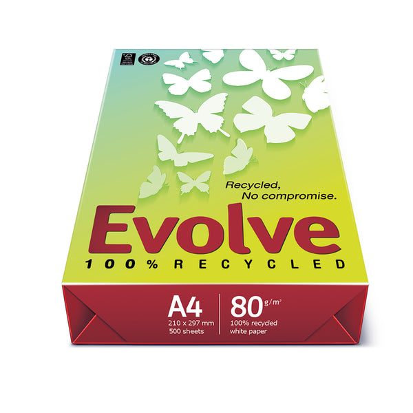 Evolve Everyday Paper FSC Recycled Ream-wrapped 80gsm A4 White [500 Sheets]
