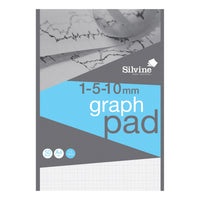 Silvine Student Graph Pad 90gsm-Various Types 50 Sheets A4 [Pack 10]