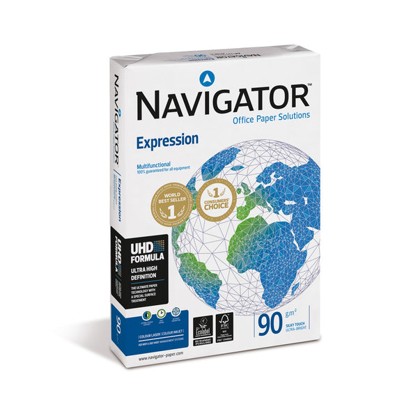 Navigator Expression Paper Ream-Wrapped 90gsm A3 White [500 Sheets]