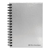 Pukka Pad Notebook Wirebound Hardback 90gsm Ruled Margin Perforated 160pp A4 Or A5 Silver [Pack 5]