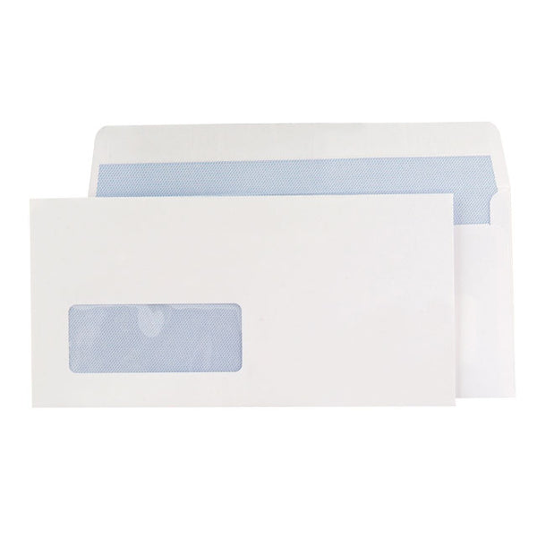 Blake Premium Office Envelopes Wallet P&S Window 120gsm DL Ultra White Wove [Pack 500]