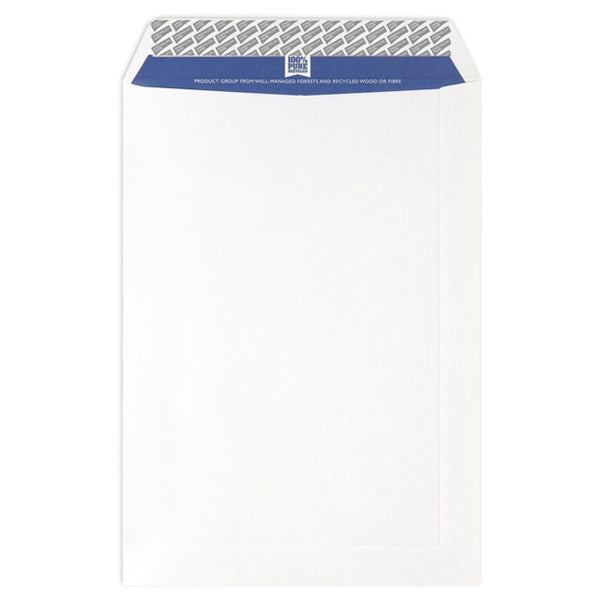 Blake Premium Pure Envelope C4 Recycled Pocket Wove P&S 120gsm Super White[Pack 250]