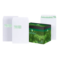 Basildon Bond Envelopes FSC Recycled Pocket P&S Window 120gsm C4 White [Pack 50 or 250]