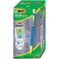 Bic Matic Ecolutions Mechanical Pencil Built-in Eraser with 4 x HB 0.7mm Lead [Pack 50]