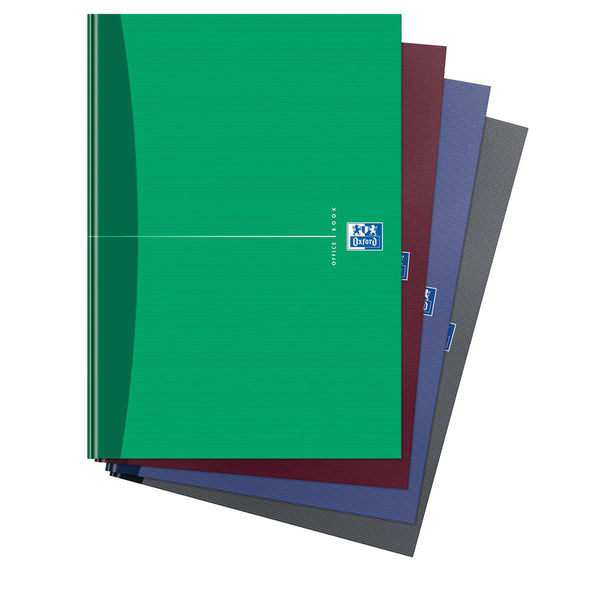 Oxford Office Nbk Casebound Hard Cover 90gsm Smart Ruled 192pp A4 Assorted Colour [Pack 5]