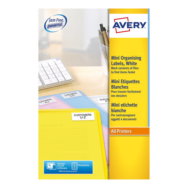 Avery CD/DVD/Disk/Video Spine Labels Laser - Various