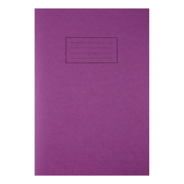 Silvine Exercise Book Ruled and Margin 80 Pages 75gsm 229x178mm or A4 Various Colours [Pack 10]