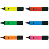 5 Star Office Highlighter Chisel Tip 1-5mm Line Various Colours [Pack of 12 Same Colour]