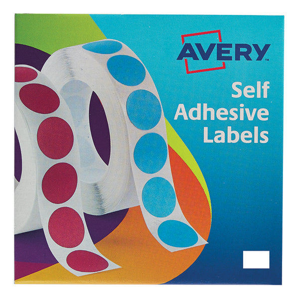Avery Labels in Dispenser on Roll Rectangular 18x12mm or 25x19mm White