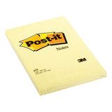 Post-it Notes Large Feint Ruled (or Plain) Pad of 100 Sheets 102x152mm [Pack 6]