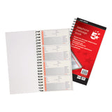 5 Star Office Telephone Message Book Wirebound Carbonless Sticky Or Perf. 320 Notes 80 Pages 275x150mm