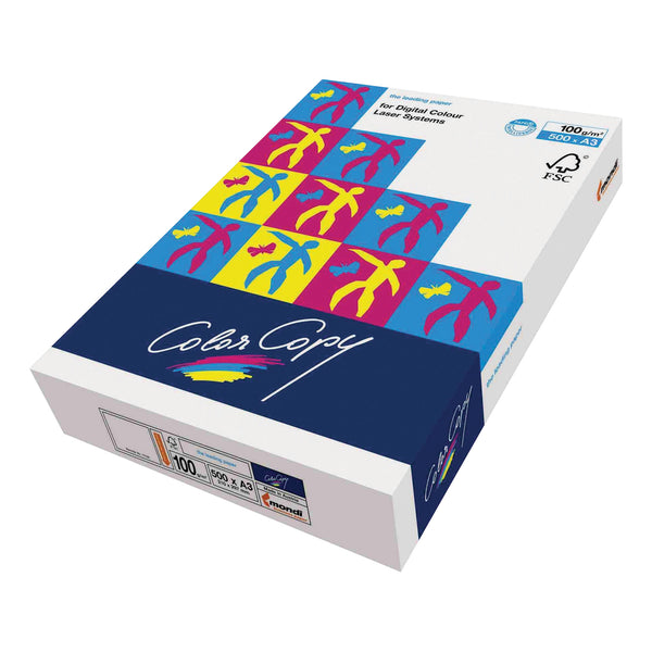 Color Copy Paper Premium Super Smooth FSC Ream-Wrapped 100gsm A3 White [500 Sheets]