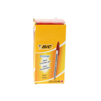 Bic Cristal Ball Pen Clear Barrel 1.0mm Tip 0.32mm Line Black, Blue, Red or Green Ink [Pack 50]
