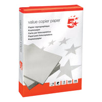 5 Star Value Copier Paper Multifunctional Ream-Wrapped A4 White [500 Sheets]