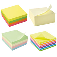 5 Star Office Re-Move Notes Cube Pad of 400 Sheets 76x76mm Various Colours