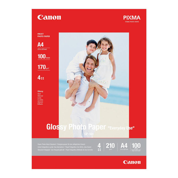 Canon GP-501 Photo Inkjet Paper Glossy 210gsm A4 [100 Sheets]