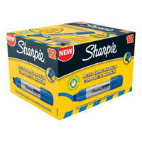 Sharpie Pro Magnum Permanent Marker Large Chisel Tip 14.8mm Line Black or Blue Ink [Pack 12]