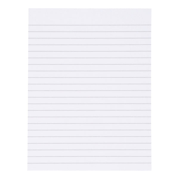 5 Star Value Memo Pad Headbound 60gsm Ruled 160pp A4 or 150x200mm White Paper [Pack 10]