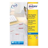 Avery Mini Multipurpose Labels Inkjet White Various Sizes
