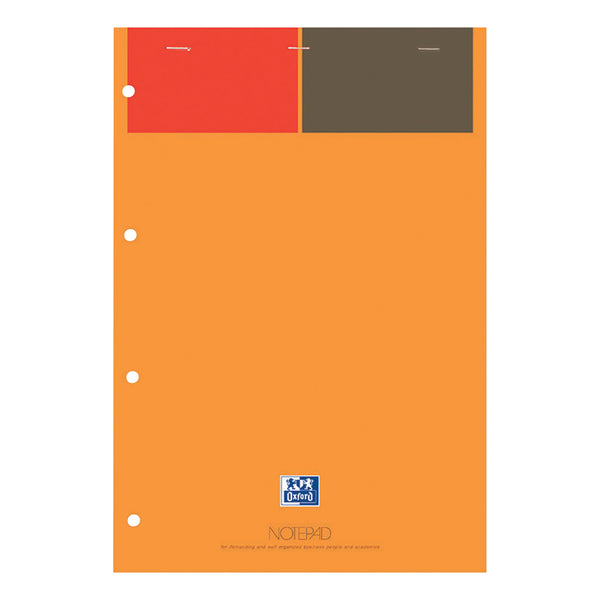Oxford Int Refill Pd Hbd 80gsm Smart Ruled Perf Punch 4 Holes 160pp A4 Orange/Grey Ref 100102359 [Pack 5]