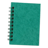 Silvine Notebook Twinwire Sidebound 75gsm Ruled 200pp A6 Green [Pack 12]