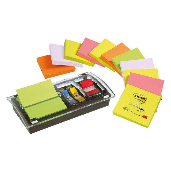 Post-it Note Value Pack 3x3 Ref DS100-VP [Pack 12 and Dispenser]