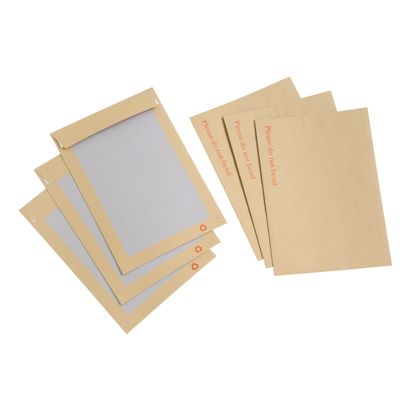 5 Star Value Envelope Recycled Board Back Peel and Seal C4 115gsm Manilla [Pack 125]